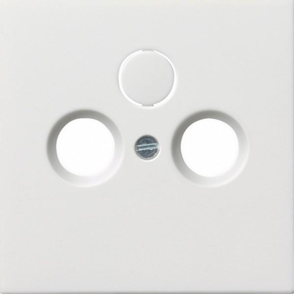 GIRA 0869112 Abdeckung für Koaxial Antennensteckdose, Reinweiß glänzend Reinweiß glänzend