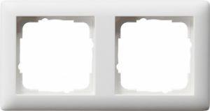 Gira 021204 Rahmen Reinweiß Seidenmatt 2 Fach