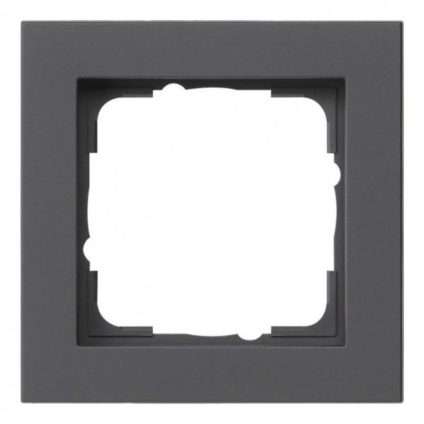 GIRA 021109 Abdeckrahmen E2 schwarz matt 1-fach