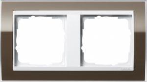 GIRA 0212763 Abdeckrahmen Event Klar Braun 2-fach