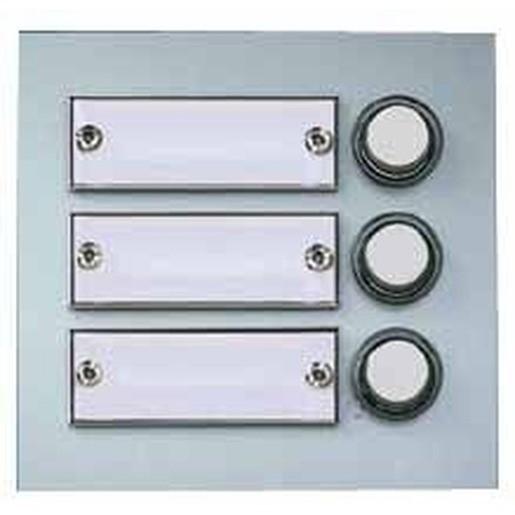 Kontaktplatte silber eloxiert, 3 Kontakte