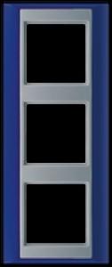 Jung Abdeckrahmen 3-fach AP 583 BL AL blau-aluminium
