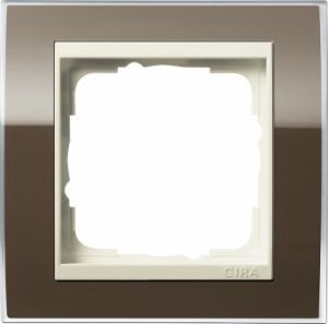 GIRA 0211761 Abdeckrahmen Event Klar Braun 1-fach