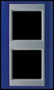 Jung Abdeckrahmen 2-fach AP 582 BL AL blau-aluminium