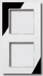 JUNG AC582GLSI A creation Glasrahmen, silber (verspiegelt) 2fach