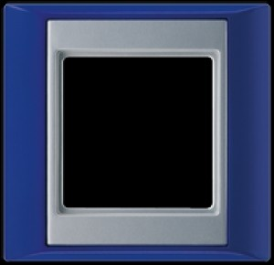 Jung Abdeckrahmen 1-fach AP 581 BL AL blau-aluminium