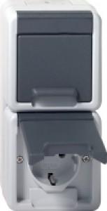 Gira 078030 IP44 SCHUKO-Doppelsteckdose senkrecht