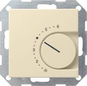 Gira 039001 Raumtemperatur Regler komplett mit Öffner. Cremeweiß glänzend