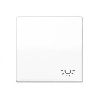Jung AS 591 L WW alpinweiß Wippe mit Lichtsymbol