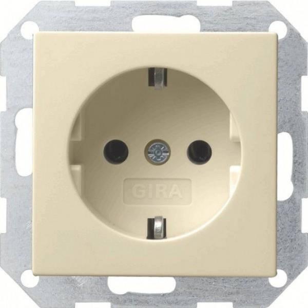 Gira 018801 System 55 Schuko-Steckdose Cremeweiß glänzend