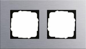 GIRA 021217 Esprit Abdeckrahmen Aluminium 2-fach