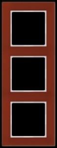JUNG AC583GLRT A creation Glasrahmen, rot 3fach