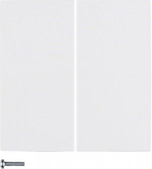 BERKER 85142189 Tastdimmer Abdeckung 2fach Polarweiß glänzend
