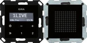 GIRA 228005 Unterputz-Radio RDS mit 1 Lautsprecher Schwarzglasoptik