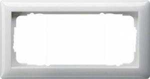 Gira 100203 Rahmen ohne Mittelsteg 2 Fach 2fach ohne Mittelsteg