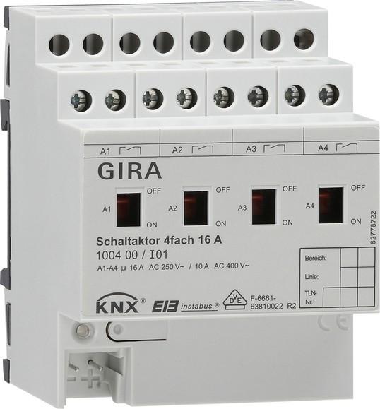 Gira 100400 KNX EIB Schaltaktor 4fach 16 A