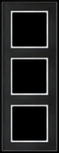 JUNG AC583GLSW A creation Glasrahmen, schwarz 3fach