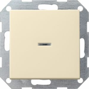 Gira 013601 Tastkontrollschalter komplet t mit Wippe fuer Universal Aus Wechselsc Cremeweiß glänzend