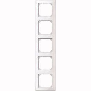 MERTEN 462519 M-SMART Rahmen, 5fach Polarweiss, hochkratzfest
