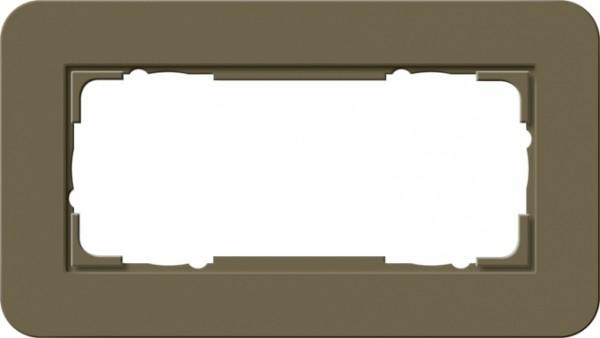 GIRA 1002416 Abdeckrahmen E3 ohne Mittelsteg 2fach Umbra/Reinweiß 2-fach ohne Mittelsteg