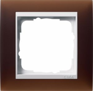 GIRA 0211331 Abdeckrahmen Event Opak Dunkelbraun 1-fach