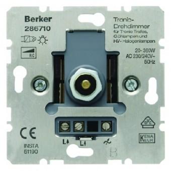 BERKER 286710 Tronic-Drehdimmer mit Druck-Aus-/Wechselschalter