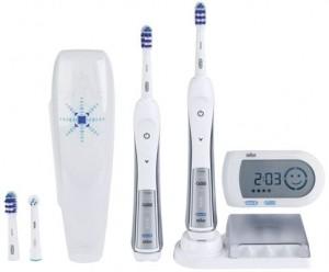 BRAUN Zahnbürste 5000 Design Edition +2.Handstück TriZone weiß-blau