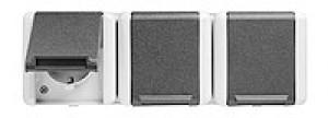 JUNG 8230NAW SCHUKO-Dreifach-Steckdose für waagerechte Montage