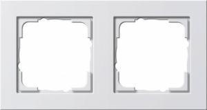 Gira 021222 Reinweiß seidenmatt Rahmen E2 2fach