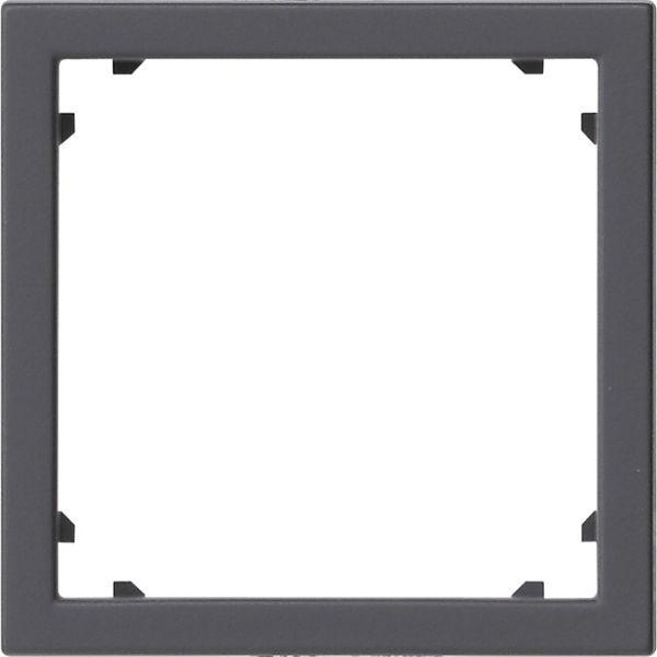 Gira 0283005 System 55 Adapterrahmen mit quadratischem Ausschnitt für Geräte mit Abdeckung (45x45mm)