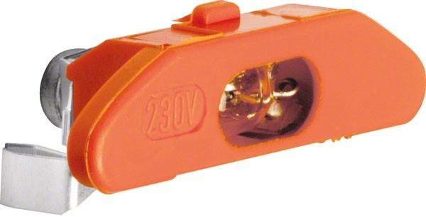 BERKER 160514 Glimmaggregat mit N-Klemme Orange 0,4mA