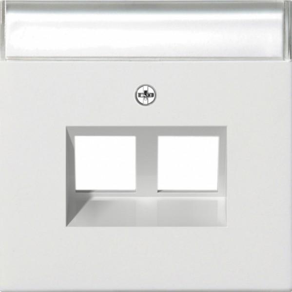 GIRA 2640112 Abdeckung für Tragring Modular Jack, Reinweiß glänzend Reinweiß glänzend