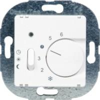 OPUS® 1 Raumtemperaturregler, Öffner, mit Handschalter, Absenkung / EIN / AUS alpinweiß 230 V AC