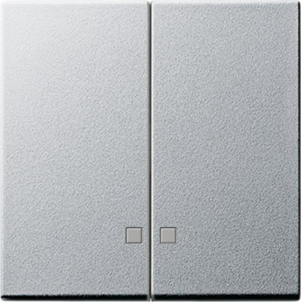 Gira 063126 Serienwippen mit Kontroll-Fe nster für Serien-Kontrollschalter Alu