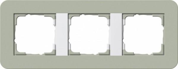GIRA 0213415 Abdeckrahmen E3 Graugrün/Reinweiß 3-fach