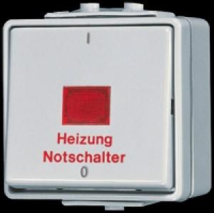 Jung Heizung-Notschalter 10 AX 250 V Aus 2pol 602 HW