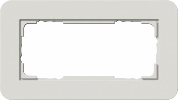 GIRA 1002411 Abdeckrahmen E3 ohne ohne Mittelsteg 2fach Hellgrau/Reinweiß 2-fach ohne Mittelsteg