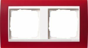 GIRA 0212398 Abdeckrahmen Event Opak Rot 2-fach