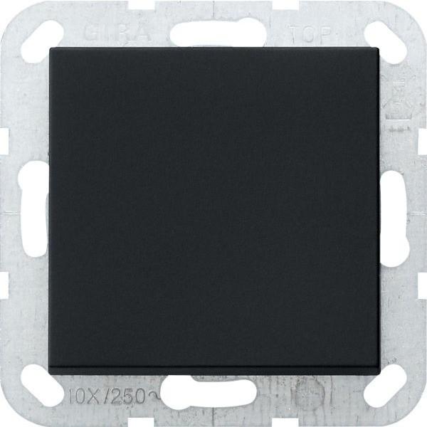 Gira 0126005 System 55 Tastschalter mit Wippe Universal-Aus-Wechselschalter Schwarz matt