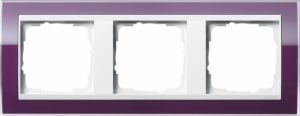 GIRA 0213753 Abdeckrahmen Event Klar Aubergine 3-fach