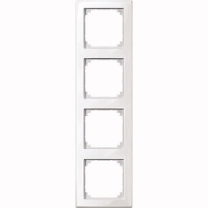 MERTEN 478419 M-SMART-Rahmen, 4fach Polarweiss, glänzend