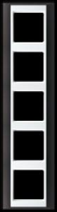 Jung Rahmen 5-fach AP 585 ANT WW 93x373mm anthrazit-alpinweiß