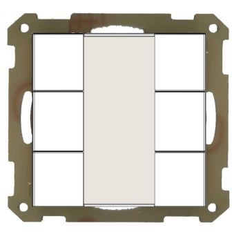 MDT BE-TA5506.01 Taster 55mm, UP, Reinweiß matt 6-fach