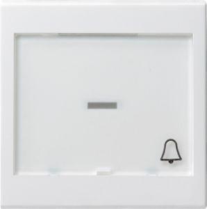 Gira 067903 Wippe, Symbol Klingel und großem Beschriftungsfeld für Wipptaster Reinweiß glänzend