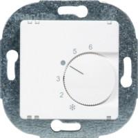 OPUS® 1 Raumtemperaturregler, Öffner, mit Handschalter EIN / AUS alpinweiß 230 V AC