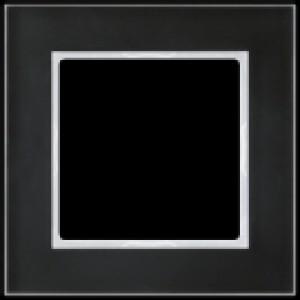 JUNG AC585GLSW A creation Glasrahmen, schwarz 5fach