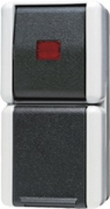 JUNG 876KOW SCHUKO-Steckdose mit Wipp-Kontrollschalter