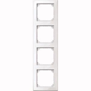 MERTEN 462419 M-SMART-Rahmen, 4fach Polarweiss, hochkratzfest