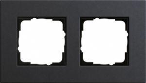 GIRA 0212226 Esprit Abdeckrahmen Linoleum-Multiplex Anthrazit 2-fach