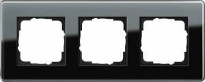 GIRA 0213505 Esprit Abdeckrahmen Schwarz Glas C 3-fach